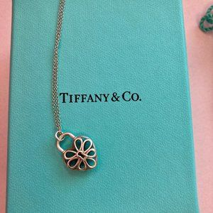Tiffany and Co 925 silver filigree heart necklace
